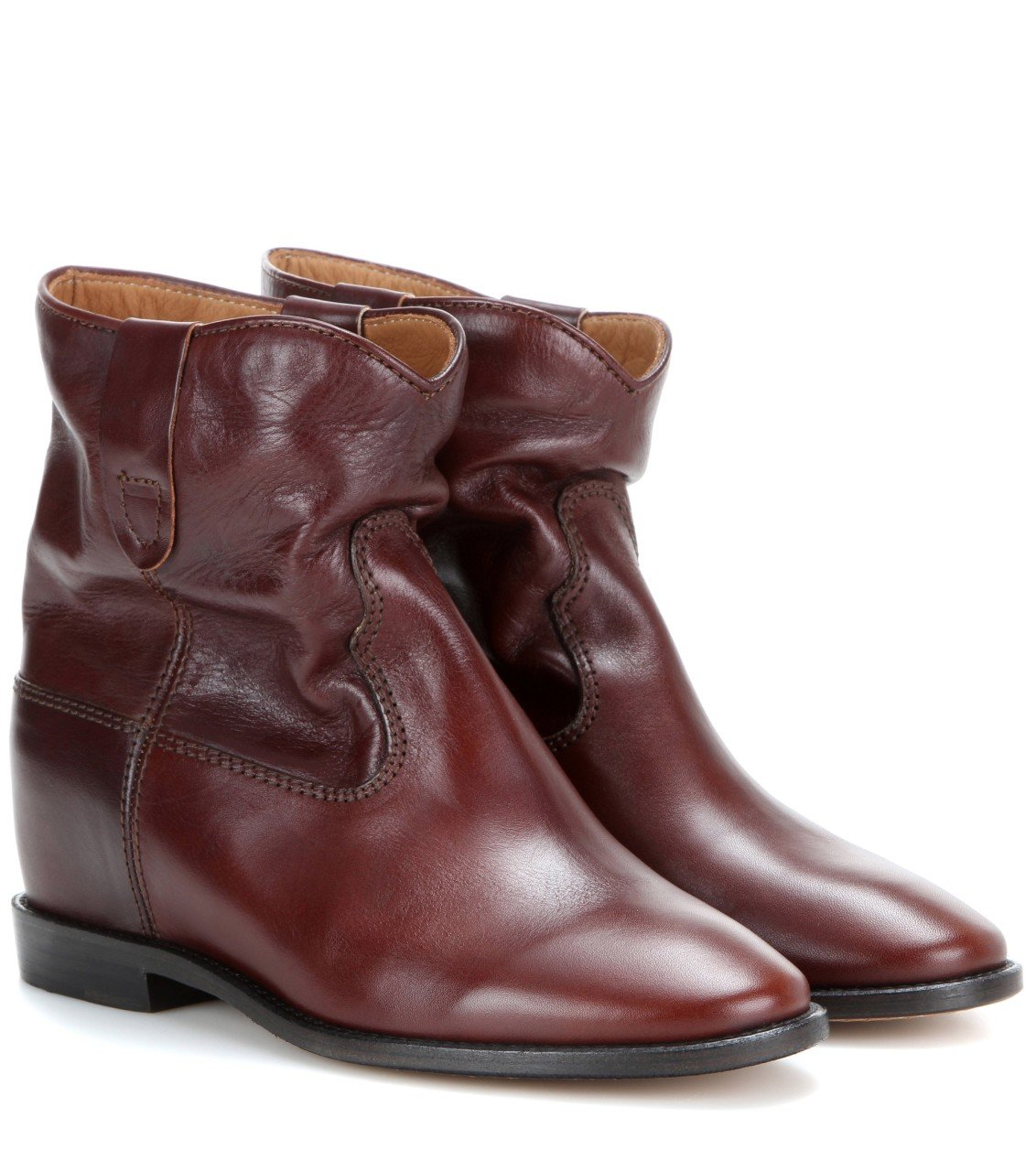 toile cluster leather boots bot bordo kad n isabel marant. Black Bedroom Furniture Sets. Home Design Ideas